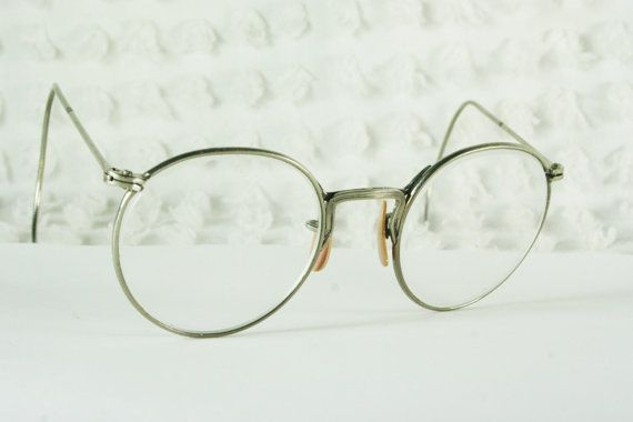 round glasses safety frame mens silver wire rim circle ful vue flexible cable temple unisex optical frame