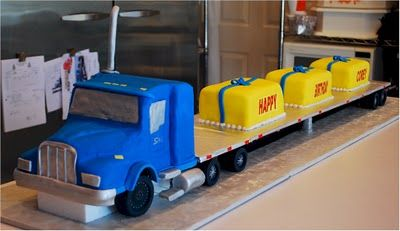 SemiTrailer Cake Cakes I Want to Try Making Pinterest Semi