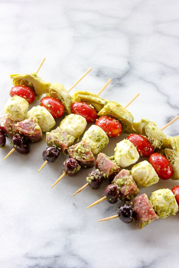 Easy Antipasto Skewers Are A Perfect Party Appetizer That Can Be Made Ahead Of Time And Will Disappear In Minutes