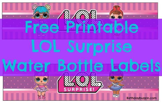 free printable lol surprise water bottle labels jayleen 5th bday