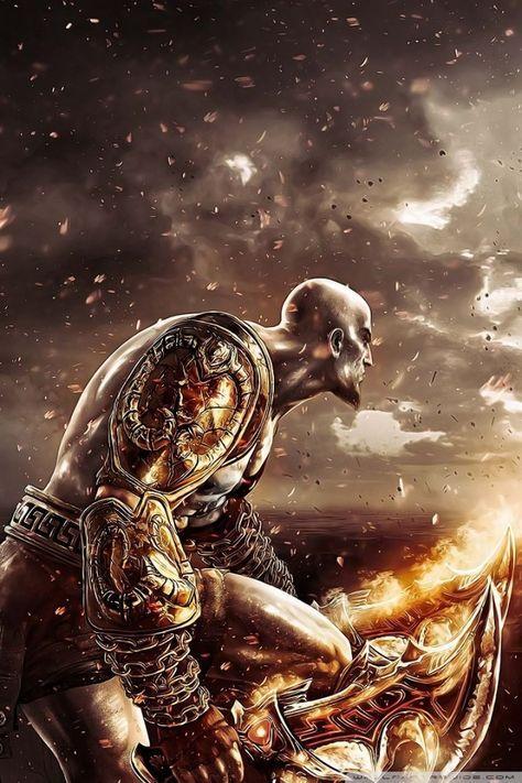 God Of War Kratos Hd Desktop Wallpaper Widescreen High Definition Kratos God Of War God Of War War