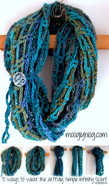 DIY Easy Crochet Infinity Scarf Pattern and Tutorials from ...