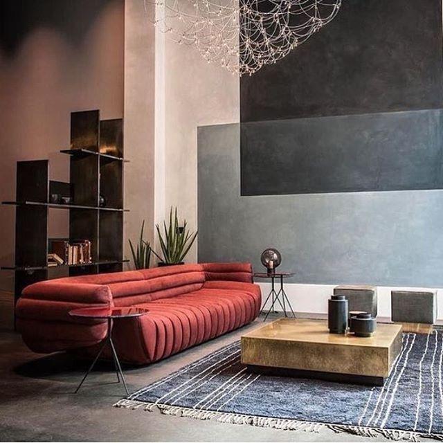 Rode Leren Design Bank.Rust Red Sofa Modern Interieurontwerp Meubelontwerp En