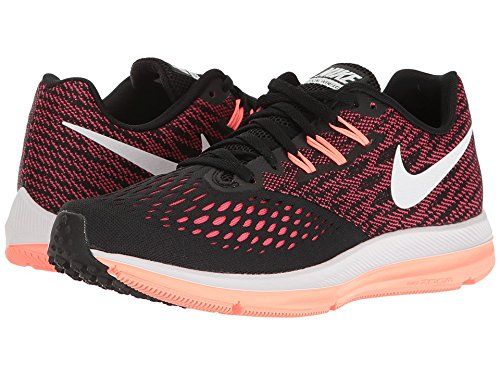 aabcae54fa2cd Nike Air Zoom Winflo 4 BlackWhiteRacer PinkLava Glow Womens Running Shoes  -- Read more at