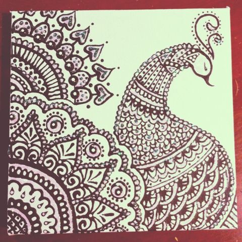 Sketched and Embellished: Peacock - Henna Design | ღ for ...