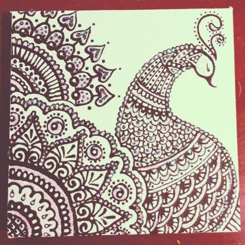 Sketched and Embellished: Peacock - Henna Design | ღ for ...