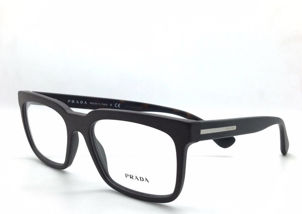 2075e7ceca0 ❤️PRADA Matte Black Unisex Eyeglasses VPR19P 1BO-101 55mm Made In Italy  🇮🇹  PRADA
