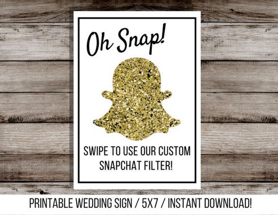 Printable Snapchat Geofilter Sign! Cute & Easy way to let