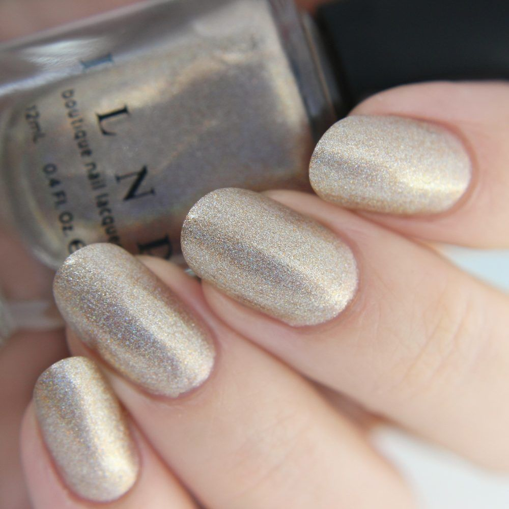 Countdown - Champagne Gold Holographic Nail Polish by ILNP