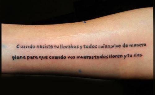 Frases De La Vida Frases Para Tatuajes Sobre La Vida Frases Para