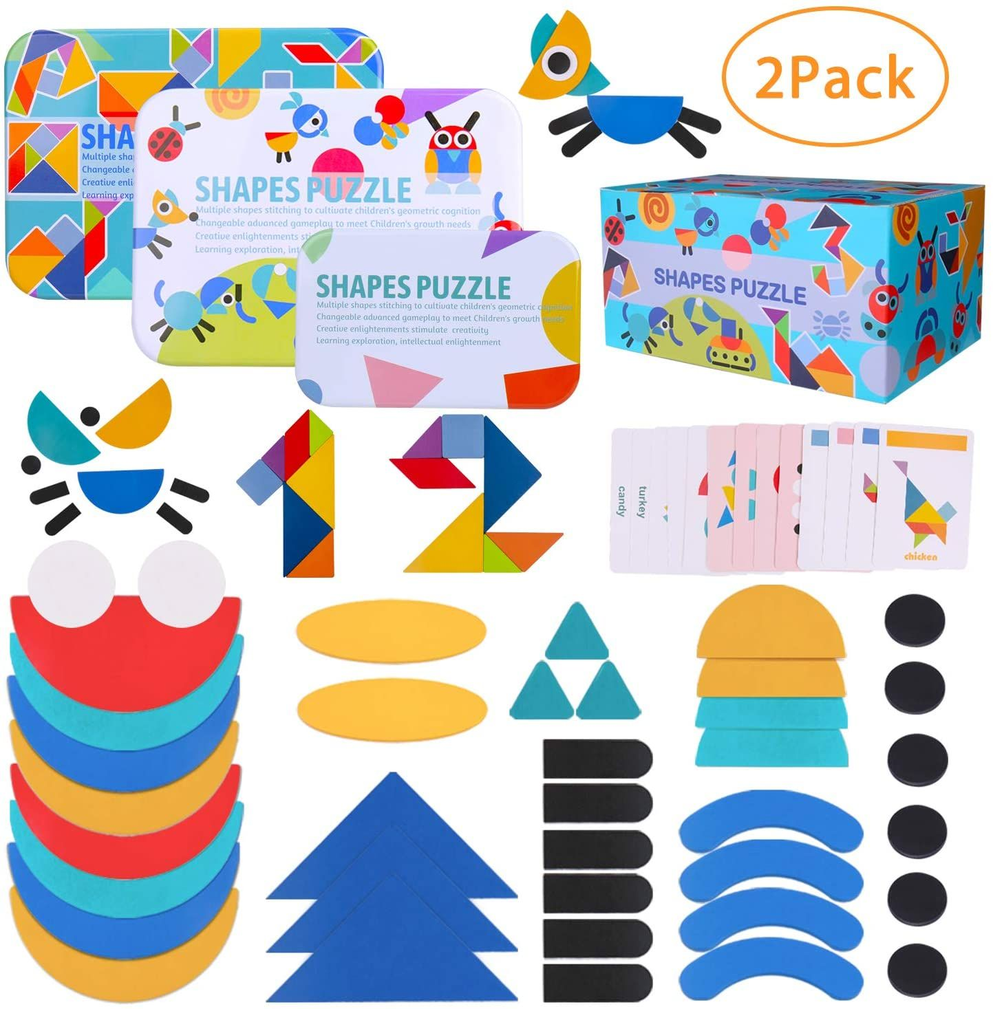 Inpher Wooden Pattern Blocks2pack 43 Shape 120 Design