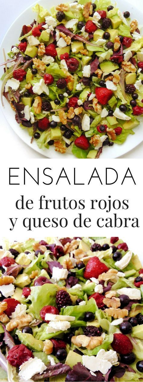 Receta de ensalada de frutos rojos y queso de cabra | Tasty details #cabra #details #Ensalada #ensaladas #ensaladas cesar #ensaladas de verano #ensaladas gourmet #ensaladas originales #ensaladas recetas #ensaladas saludables #frutos #queso #Receta #Rojos #salad #Tasty