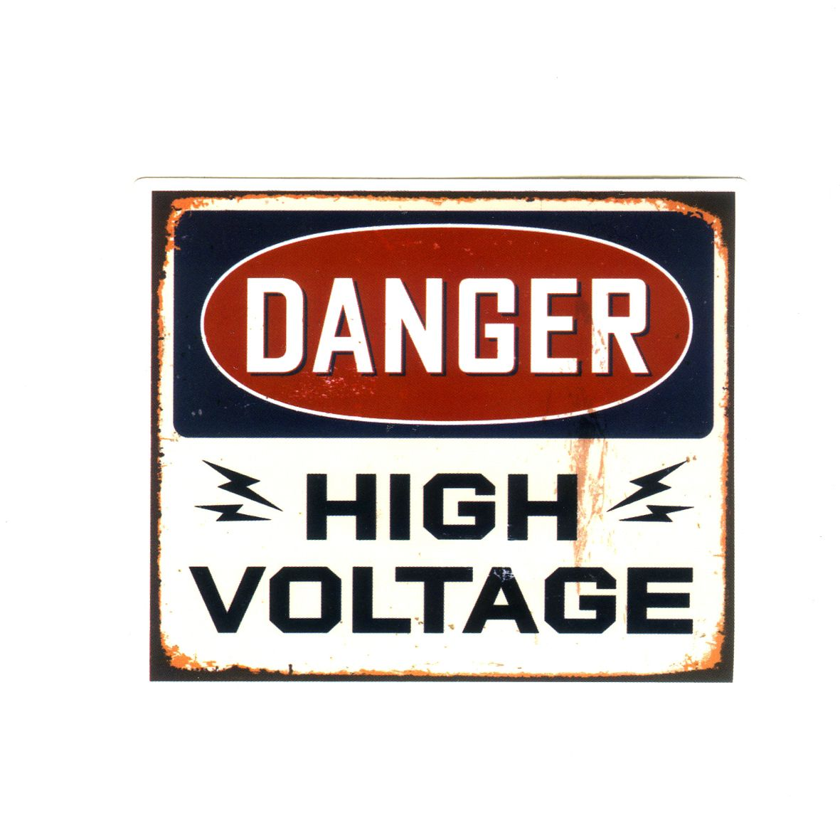 1277 Danger High Voltage Sign Width 8 Cm Decal Sticker Decalstar Com Vintage Metal Signs Metal Signs Metal Posters Retro
