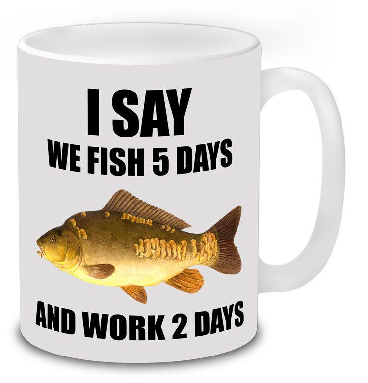Carp fishing gift idea mug present fisherman birthday