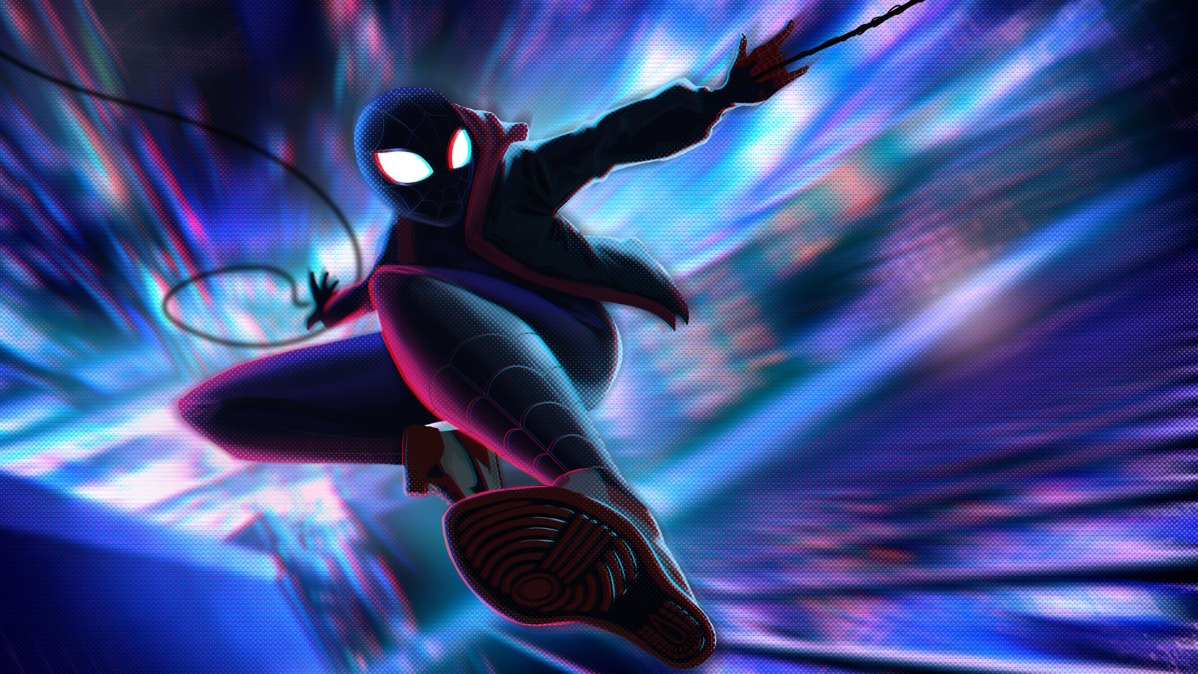 Spiderman Miles Morales Jump 4k Superheroes Wallpapers Spiderman Wallpapers Spiderman Into The Spider Verse Wallpapers Spider Verse Spiderman Miles Morales
