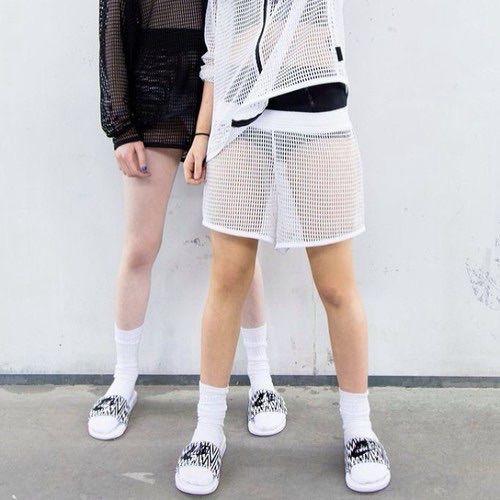 #blackandwhite #mesh #clubwear