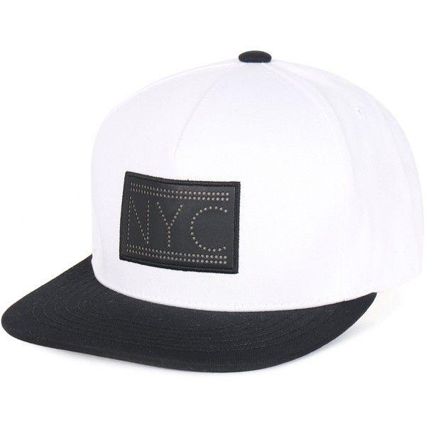 ililily NYC  Faux Leather Logo Flat Bill Snapback Hat Baseball Cap ( 19) ❤ 9a68ecfd4b7