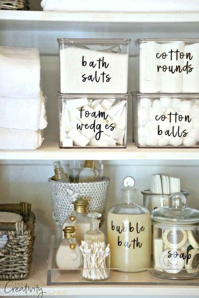 How To Organize A Small Bathroom 25 free printables to help you get organized | bathroom