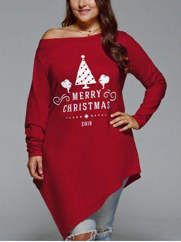 b4e14ea7cf9 2018 Plus Size Christmas Tops Online Store. Best Plus Size Christmas Tops  For Sale