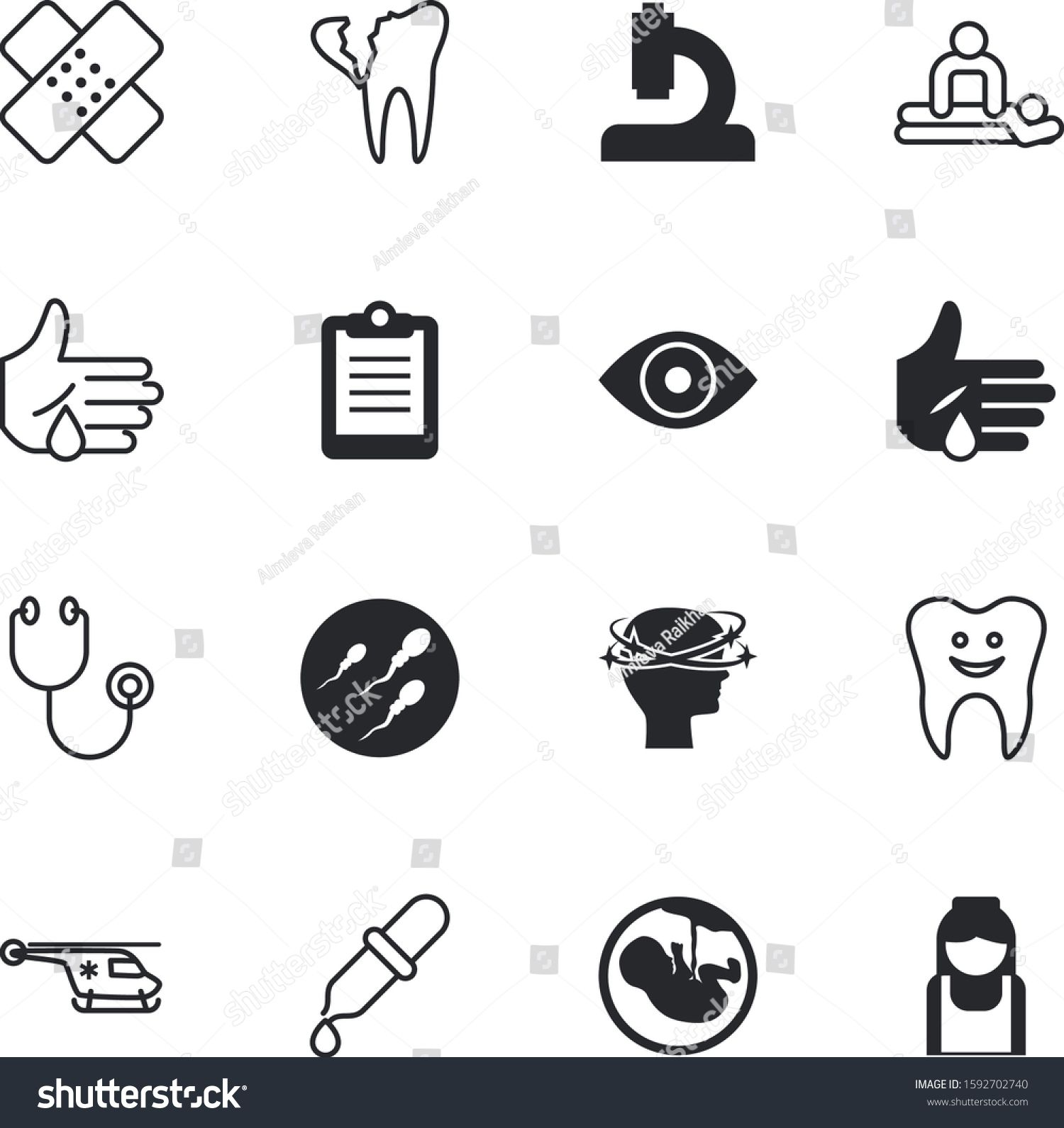 Clinic Vector Icon Set Such As Therapy Sky Fetus Search Page