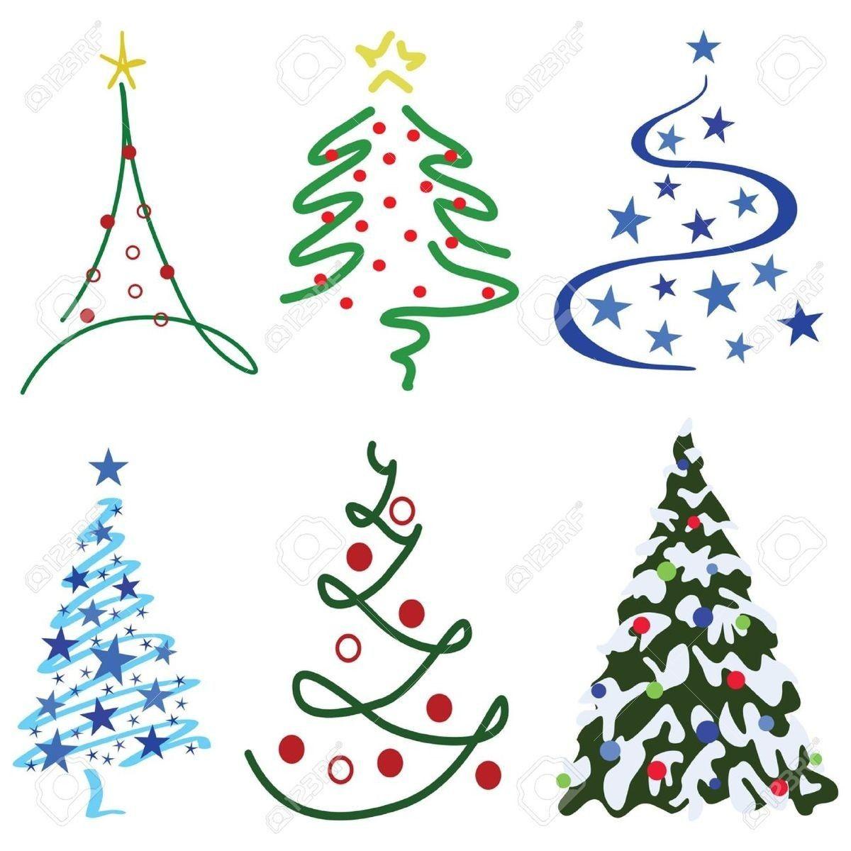 6 Ways To Draw Christmas Tree Christmas Tree Drawing Tree Drawing Simple Christmas Tree Design