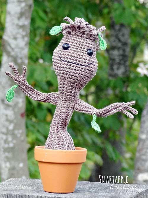 Dancing Baby Groot Free Amigurumi Pattern Crochê Pinterest