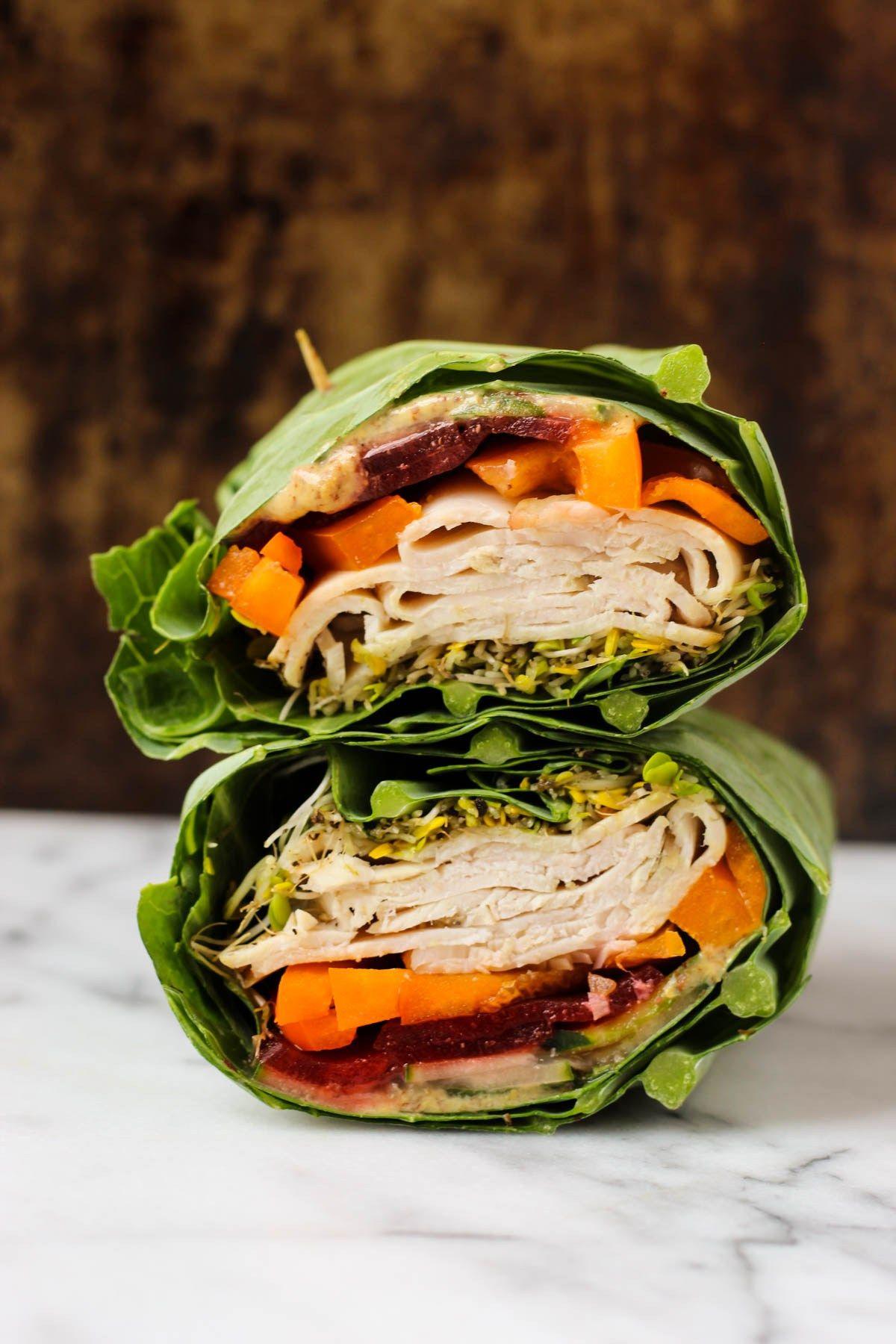 Whole30 Turkey Collard Wraps Recipe Whole 30 recipes
