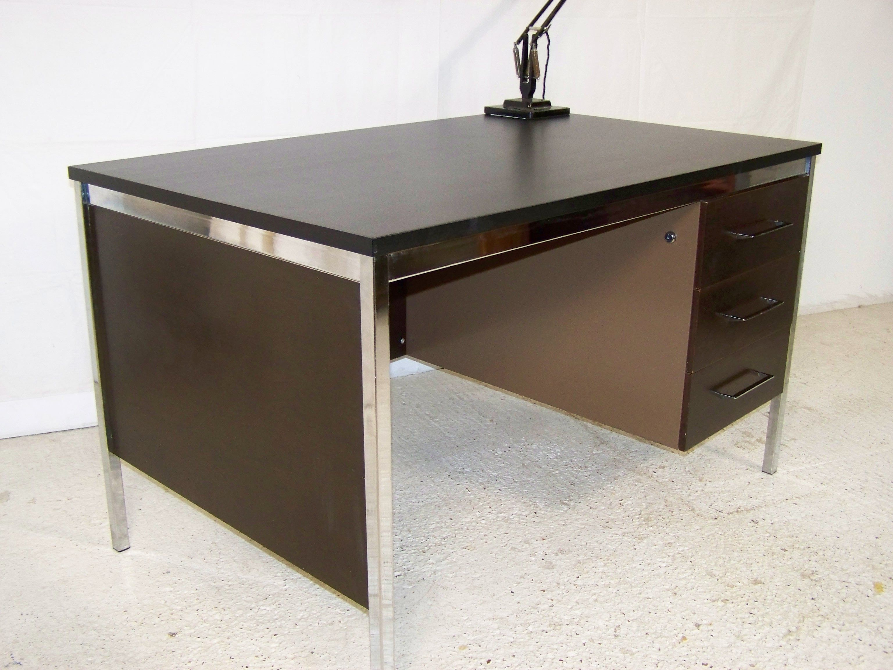 Vintage Retro Metal Desk By Roneo Vickers £425