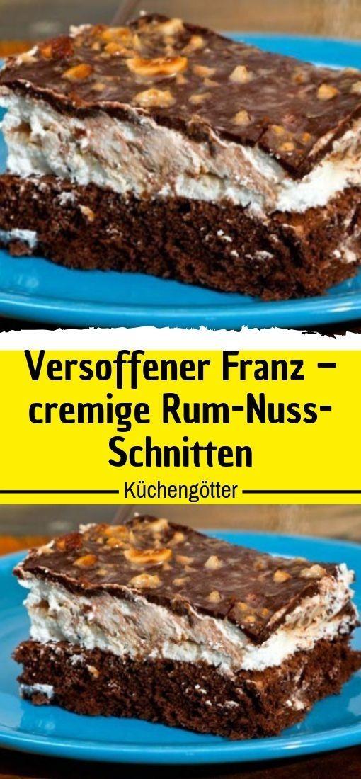 Versoffener Franz – cremige Rum-Nuss-Schnitten