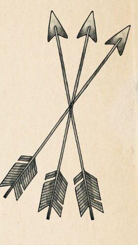 3 Arrow Tattoo : arrow, tattoo, Tattoo, Three, Arrows, Arrow, Tattoos,, Crossed