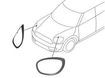 Mini Cooper Blackout Headlight Trim Pair Oem Gen3 F60