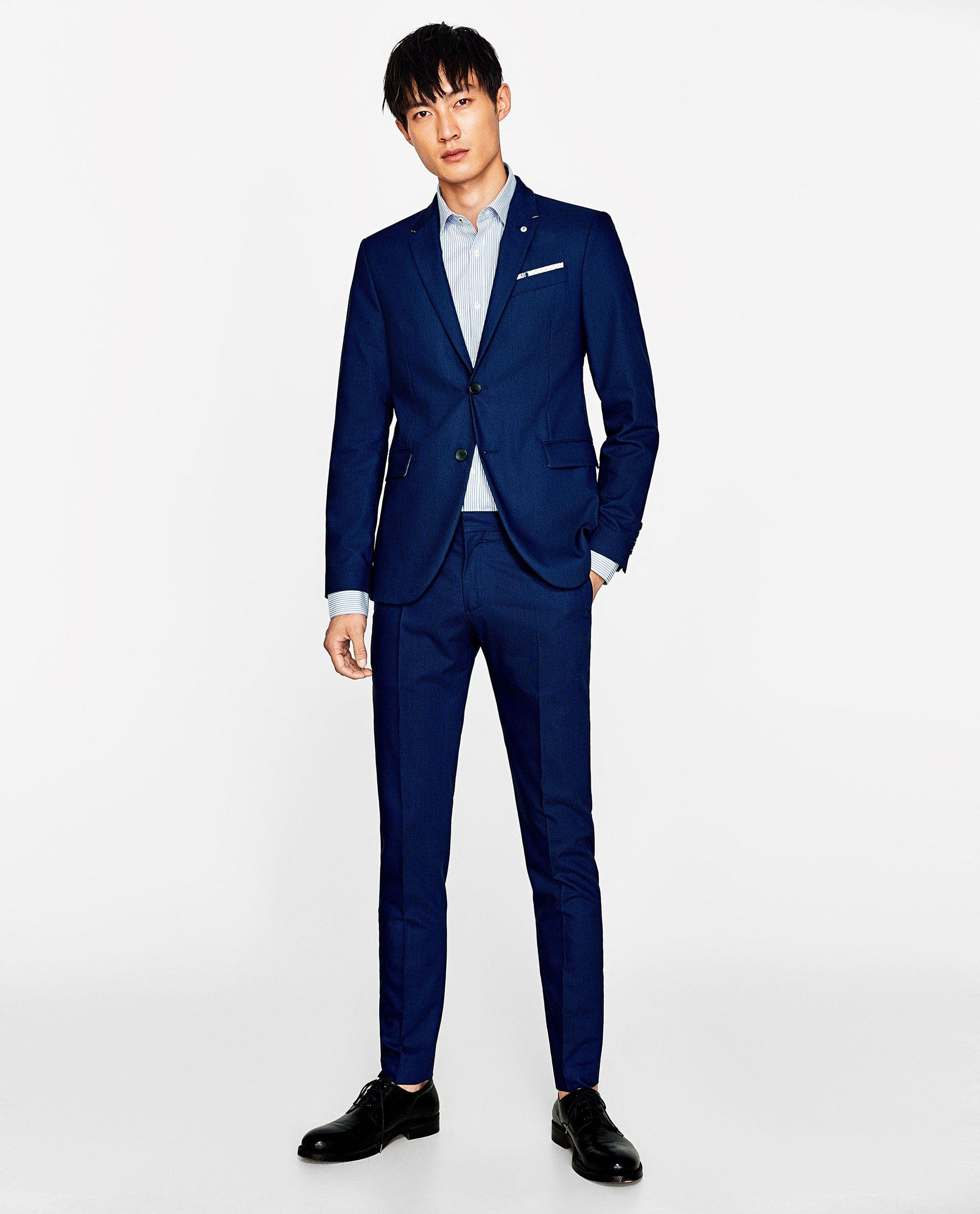 Vestiti Cerimonia Zara Uomo.Immagine 1 Di Abito Blu Tinto Di Zara Abiti Blu Abiti Uomo Abiti