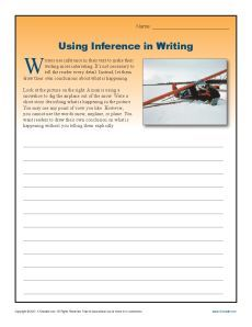Using Inference In Writing Tactful Teachery Treasures Pinterest