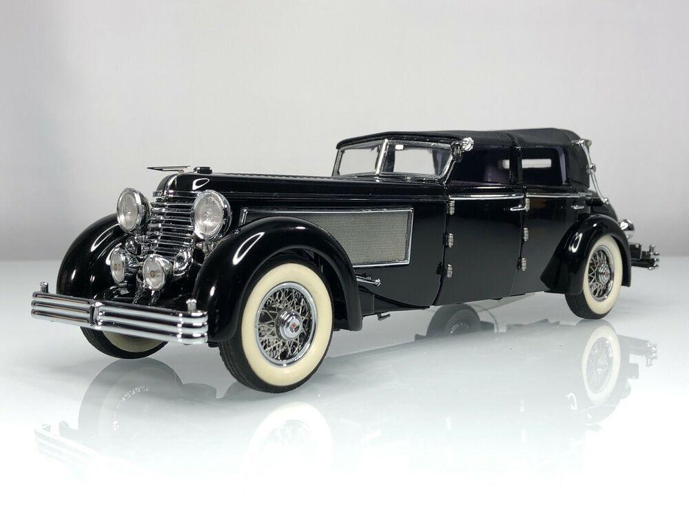 Franklin Mint 1940 Duesenberg SJ Town Car Convertible Black 1:24 Diecast Car #FranklinMint #Duesenberg