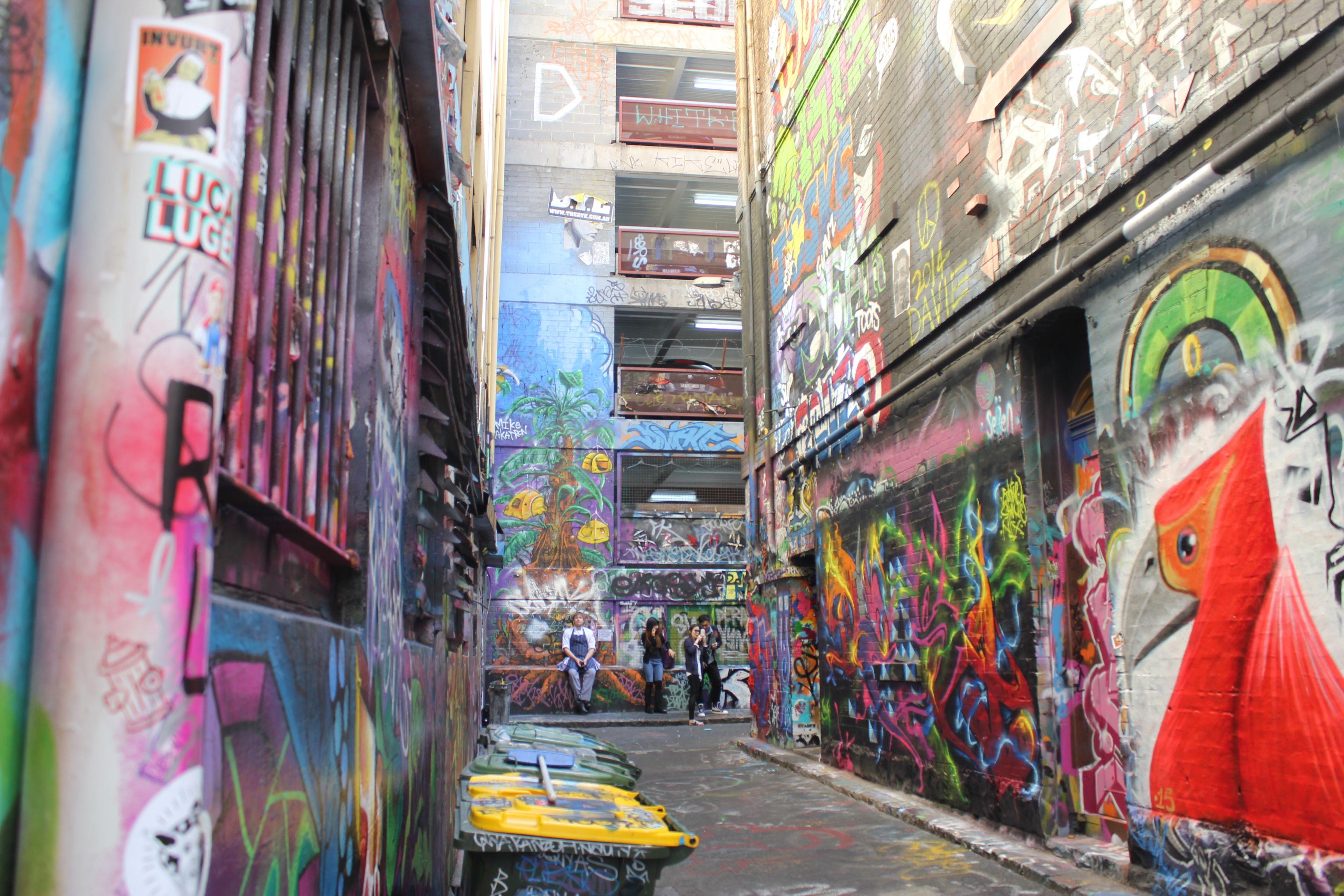Rue de graffitis Melbourne