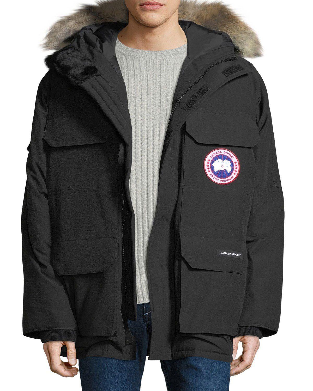 canada goose men s expedition fusion fit hooded parka coat rh pinterest com