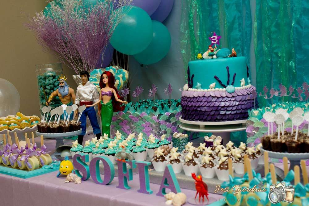 The little mermaid birthday party ideas birthday party for Ariel party decoration ideas