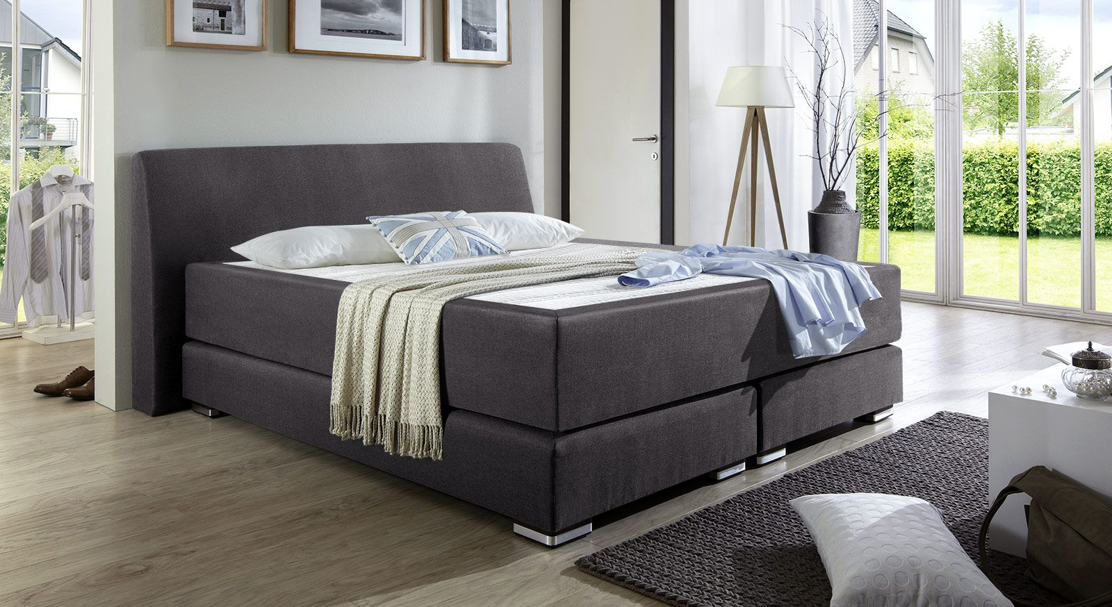 Boxspringbett design luxus  Boxspringbett