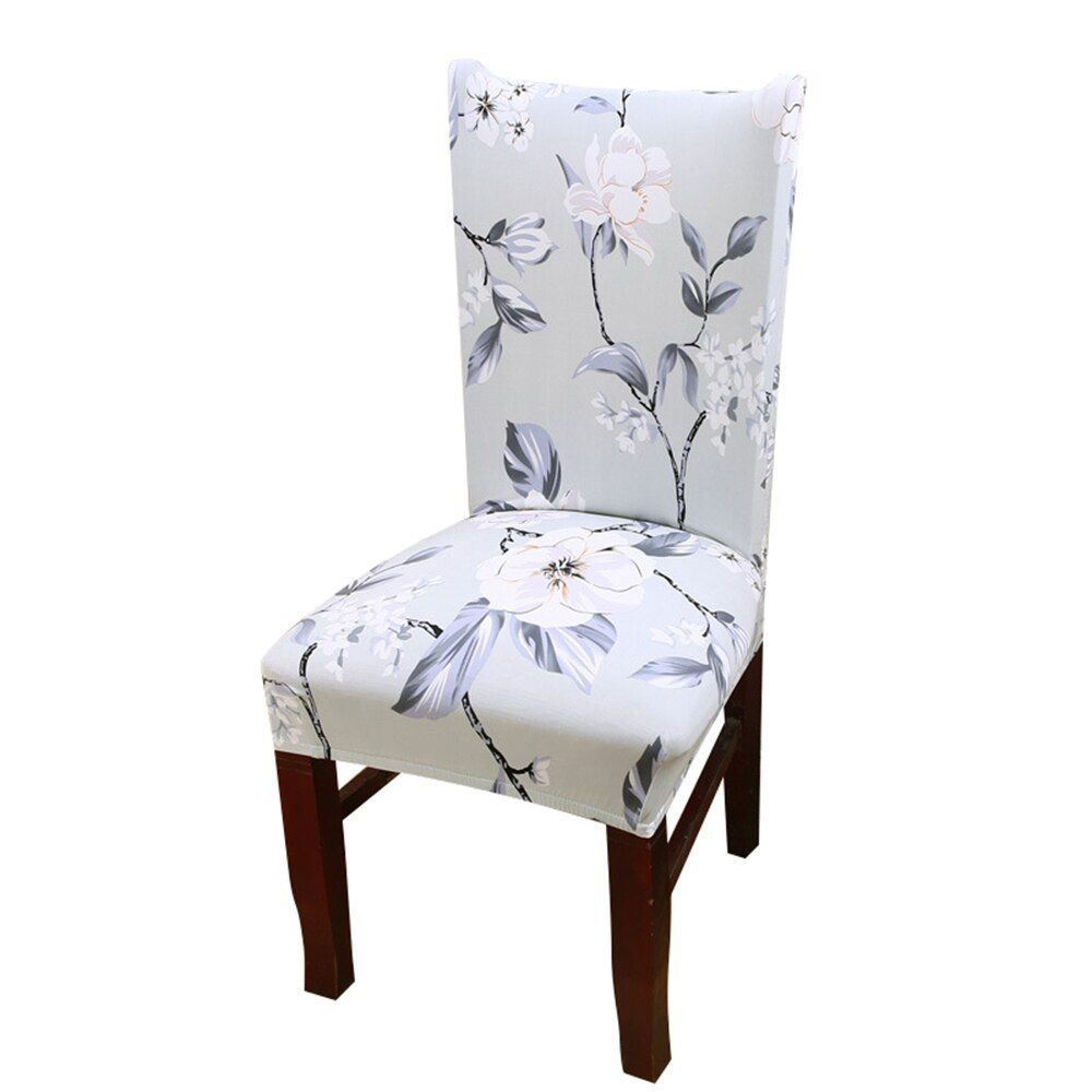 MeAddHome Floral Print Dining Chair Covers Home Dining