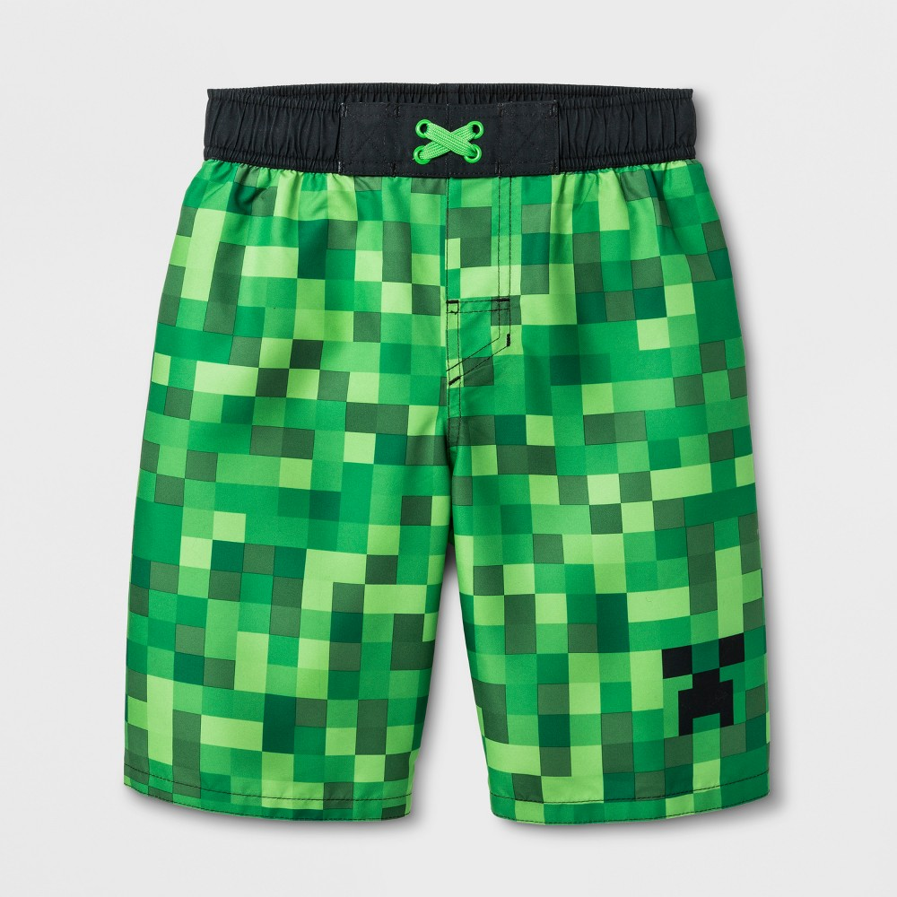 cf1a387f59206 Boys' Minecraft Swim Trunks - Green S in 2019 | Products