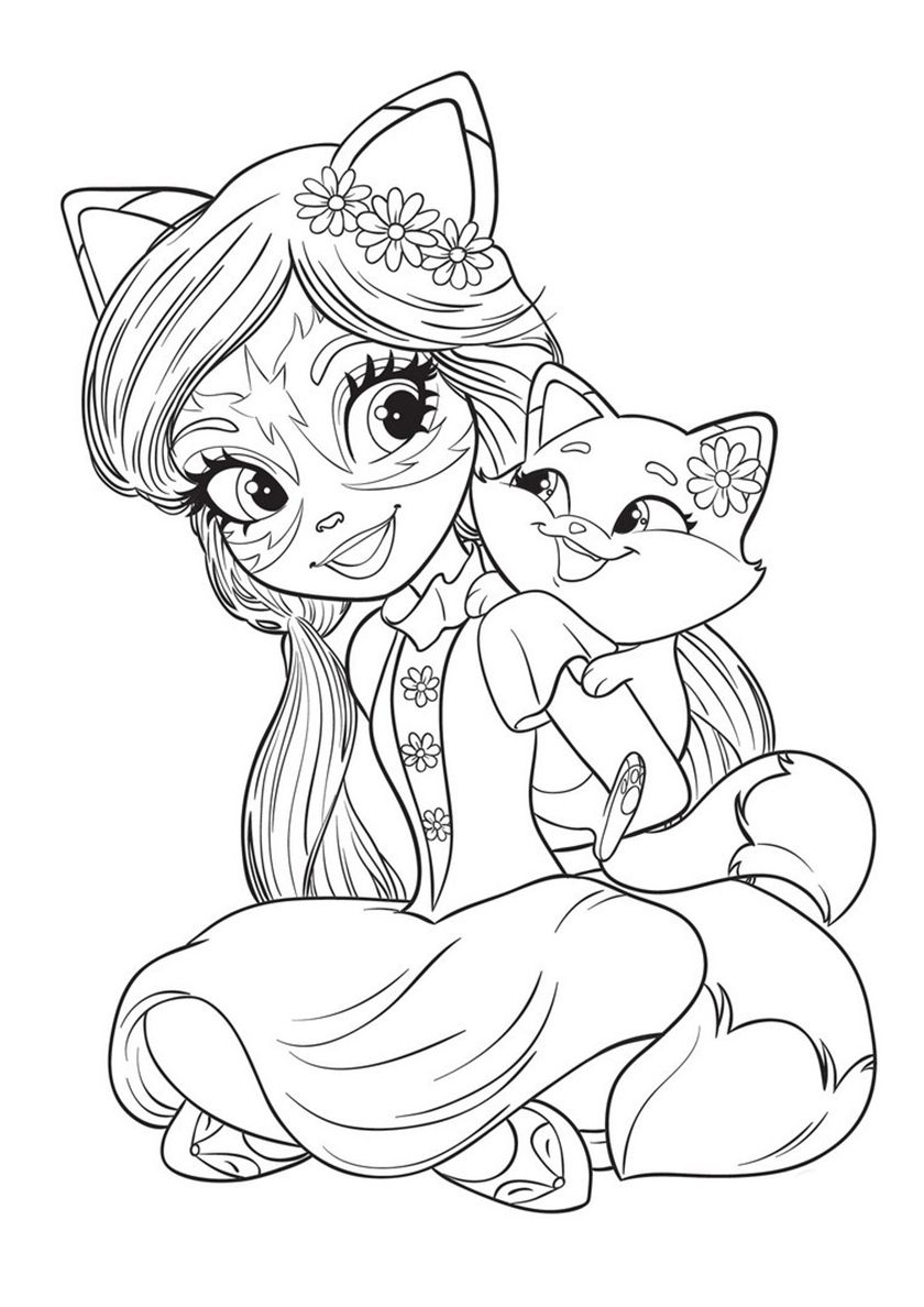 Enchantimals New Free Printable Coloring Pages Barbie Coloring Pages Cartoon Coloring Pages Fox Coloring Page