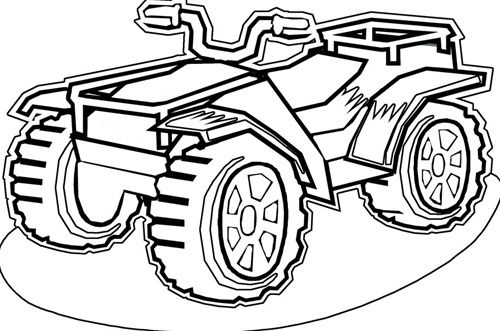 four wheeler coloring pages # 10