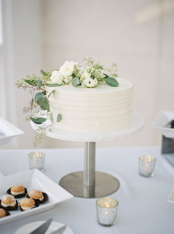 Simple Single Tier White Wedding Cakes Part 2 Wedding Cakes