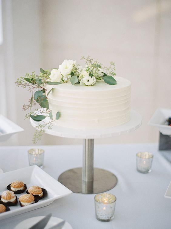Simple Single Tier White Wedding Cakes Part 2 Preowned Wedding Dresses Simple Wedding Cake White Wedding Cakes 1 Tier Wedding Cakes