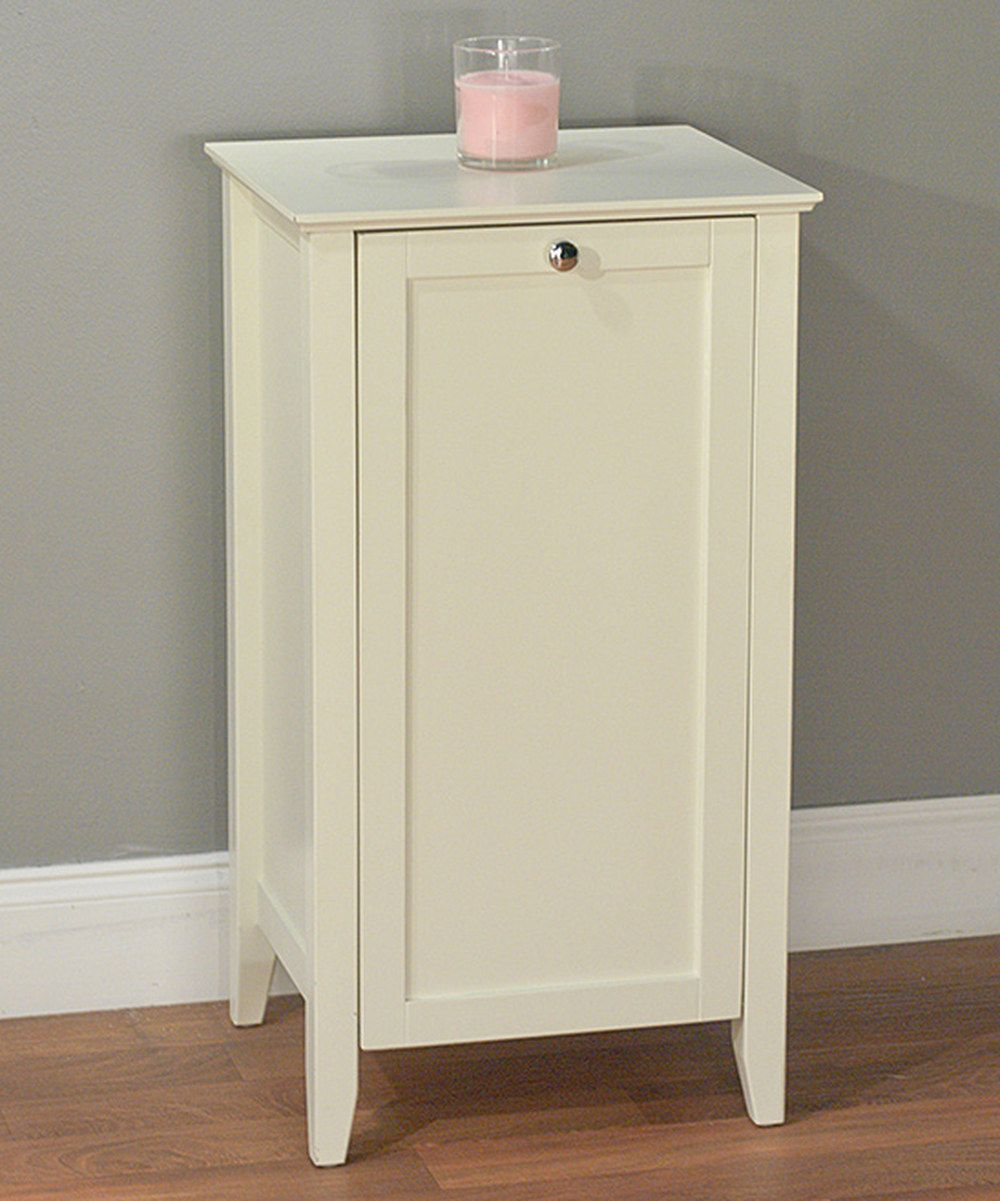 white color cabinet laundry and in hamper pin