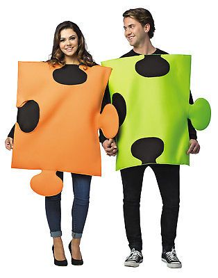 Halloween Costumes Couples Puzzle Pieces Adult Together Or Apart - his and her halloween costume ideas