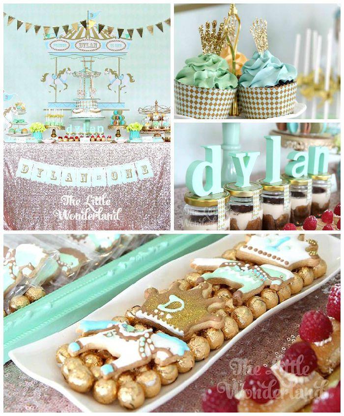 Royal Carousel Themed 1st Birthday Party Via Kara's Party