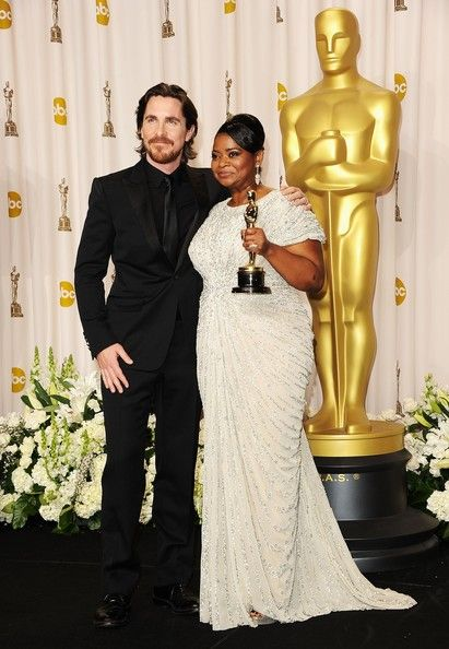 Christian Bale and Octavia Spencer Photos Photos: 84th Annual Academy Awards - Press Room #academyaward