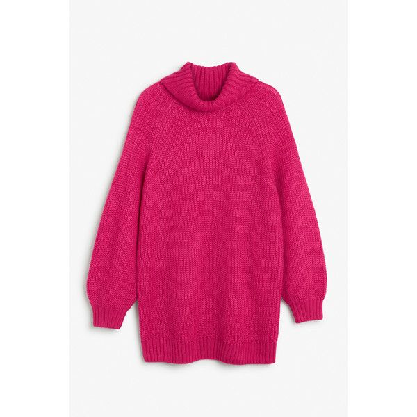Monki Heavy knit sweater ($19) ❤ liked on Polyvore featuring tops ...
