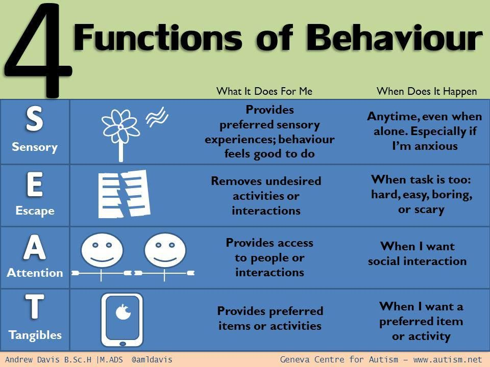 Behavior Function Chart    Repinned By CamerinrossCom